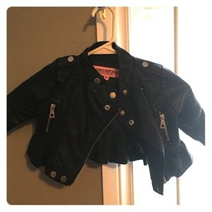 Other - Baby girl leather coat